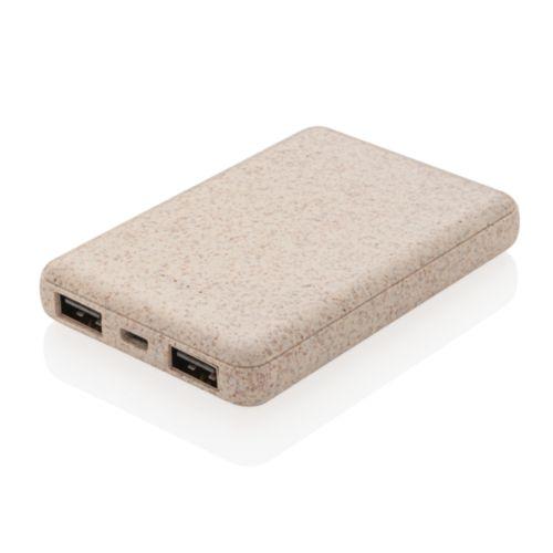 Batterie de secours de poche 5000 mAh en fibre de paille