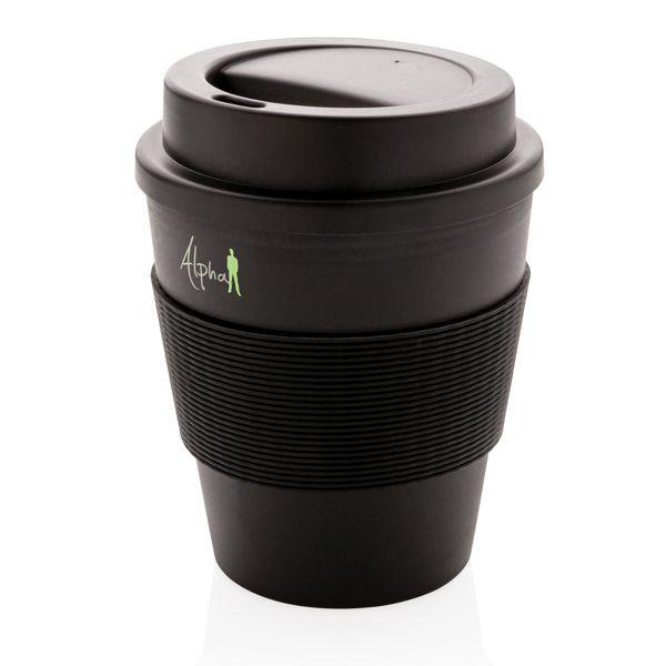 Mug en PP recyclable avec couvercle à vis 350ml
