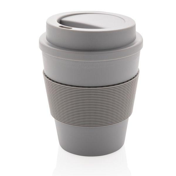 Mug en PP recyclable avec couvercle à vis 350ml, Objet personnalisable, comité social économique