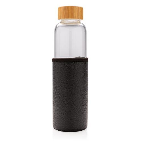 Bouteille en verre borosilicaté avec housse texturé