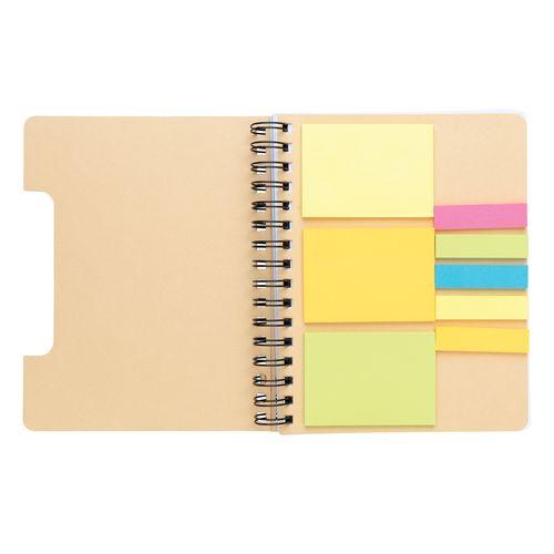 Carnet de notes A5 Kraft avec notes autocollantes - ISOCOM - OBJETS ET TEXTILES PERSONNALISES - NANTES