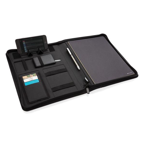 Conférencier A4 avec chargeur sans fil 5W et powerbank 5000, Objet personnalisable, comité social économique