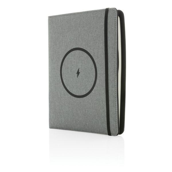 Carnet de notes avec chargeur sans fil 5W et powerbank 5000