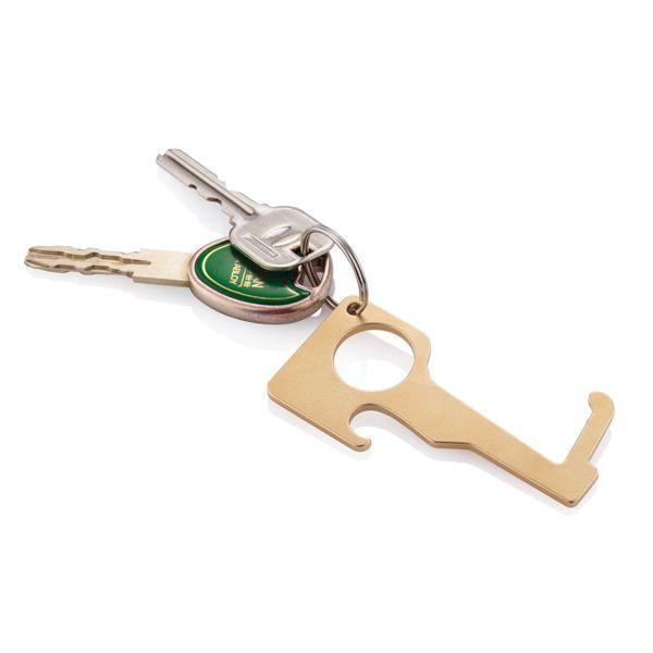 Porte-clés en laiton zéro contact, Objet personnalisable, comité social économique