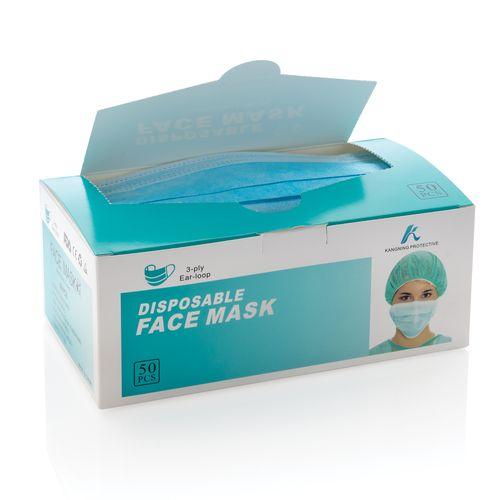Masques jetables à 3 plis x 50 pièces avec fourreau inclus