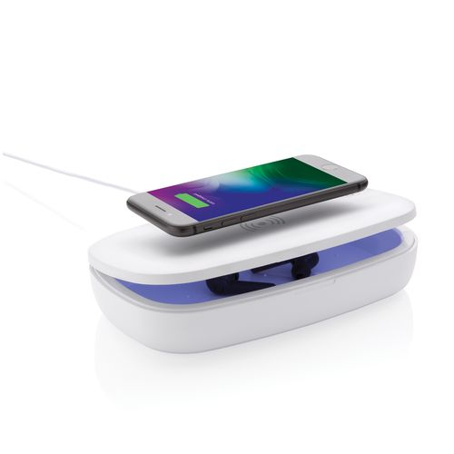 UV-C steriliser box with 5W wireless charger PERSONAL GIFTS AZAP  branded Personalized Printed Goodies by Azap Business Gift