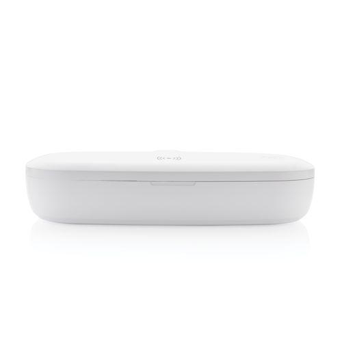 Caja esterilizadora UV-C con cargador inalámbrico de 5W  Regalos Promocionales personalizados para Empresas