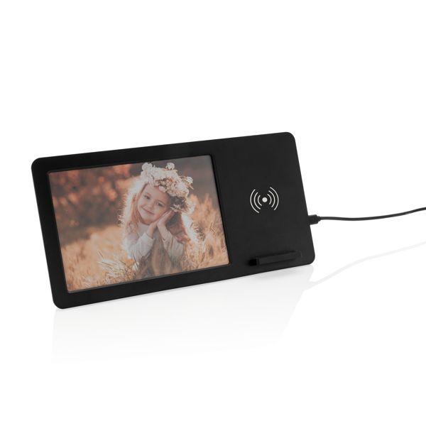 Cadre photo avec chargeur sans fil 5W, Objet personnalisable, comité social économique