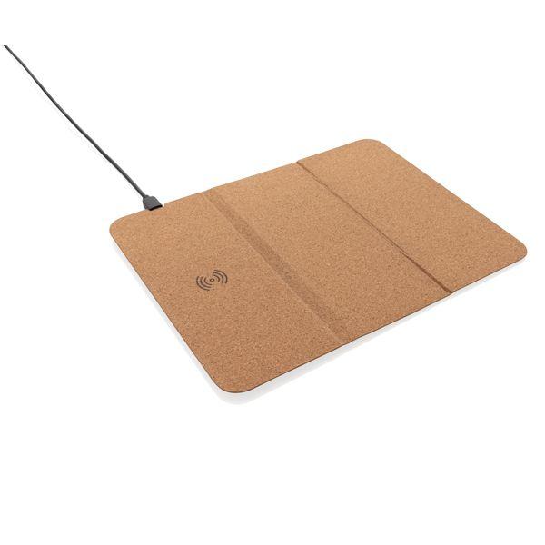 Tapis de souris en liège avec support téléphone et induction, Objet personnalisable, comité social économique