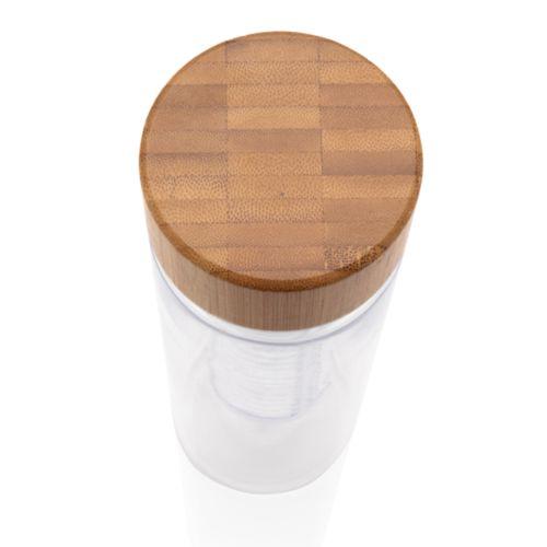 Bouteille à infusion avec bouchon en bambou - ISOCOM - OBJETS ET TEXTILES PERSONNALISES - NANTES