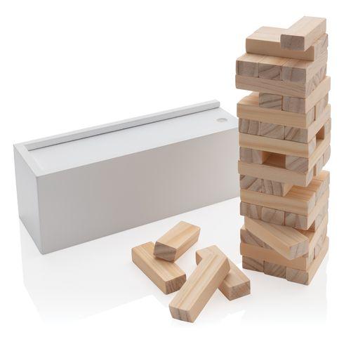 Deluxe sortuva torni puupalikka pinoamispeli