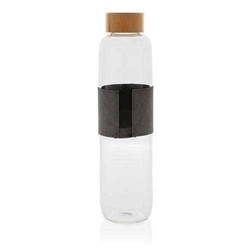 Bouteille en verre avec couvercle en bambou Impact - ISOCOM - OBJETS ET TEXTILES PERSONNALISES - NANTES