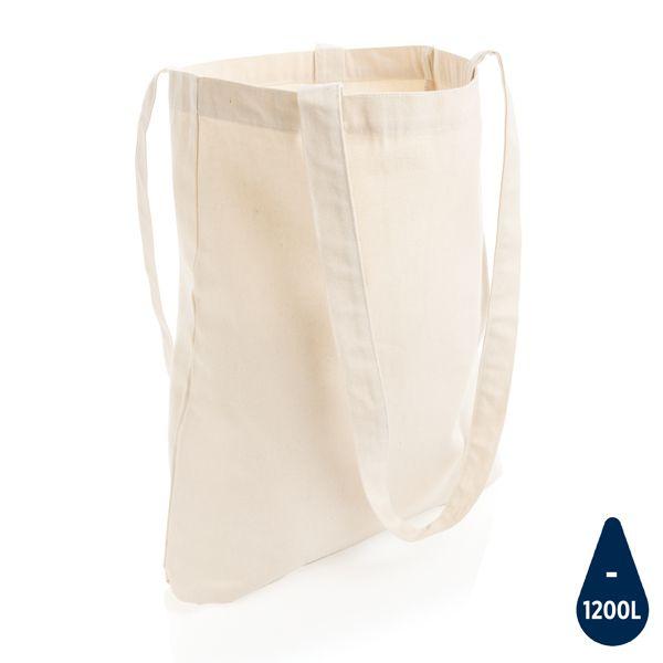 Sac shopping type Tote bag Impact en coton recyclé AWARE™, Objet personnalisable, comité social économique