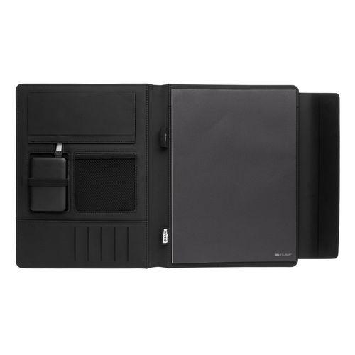 Portafolio de carga inalámbrica Fiko A4 con powerbank  Regalos Promocionales personalizados para Empresas
