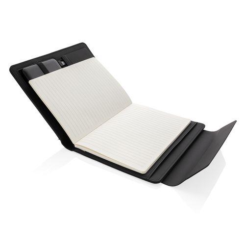 Portadocumentos de carga inalámbrica Fiko A5 con powerbank  Regalos Promocionales personalizados para Empresas