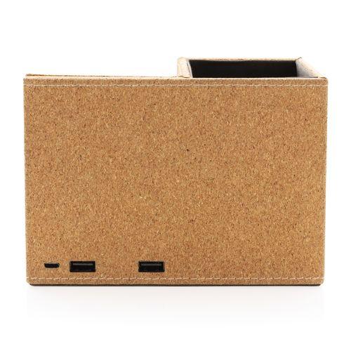 Chargeur à induction 5W en liège avec porte-crayons