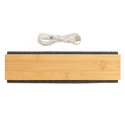 Altavoz de bambú inalámbrico Wynn 10W  Regalos Promocionales personalizados para Empresas
