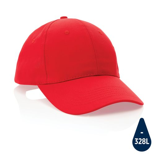 Impact 6 panel 190gr Recycled cotton cap with AWARE™ tracer PERSONAL GIFTS AZAP  branded Personalized Printed Goodies by Azap Business Gift