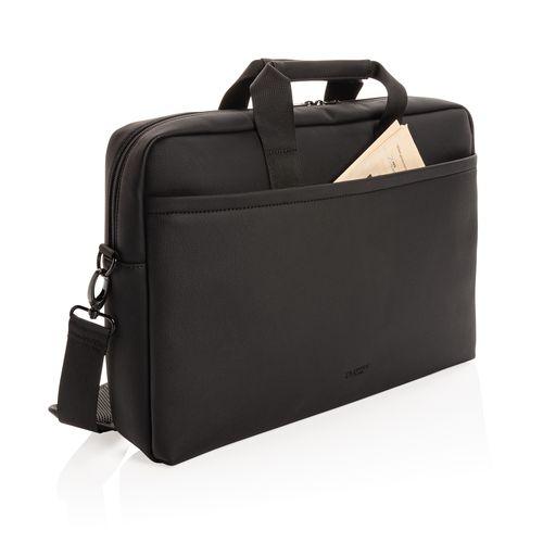 Sac ordinateur en cuir végétalien Swiss Peak Fashion Goodiz goodies objet personnalisé cadeaux d affaire objets publicitaires