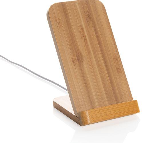 Support téléphone à induction 5W en bambou