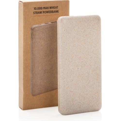 Powerbank en fibre de paille de blé 10.000 mAh