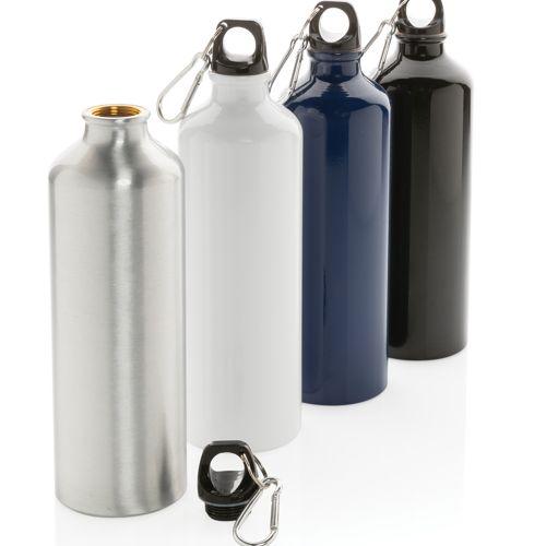 Bouteille d'eau XL en aluminium avec mousqueton - ISOCOM - OBJETS ET TEXTILES PERSONNALISES - NANTES