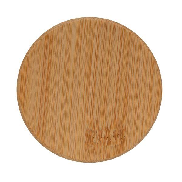 Verre double paroi 350ml avec couvercle en bambou