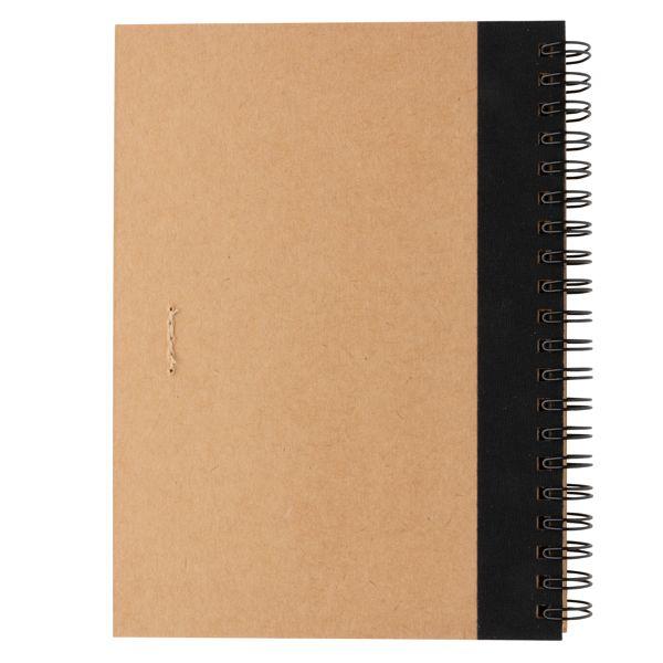 Cahier à spirales kraft avec stylo SOBELPU SPRL objet publicitaire personnalisable Belgique