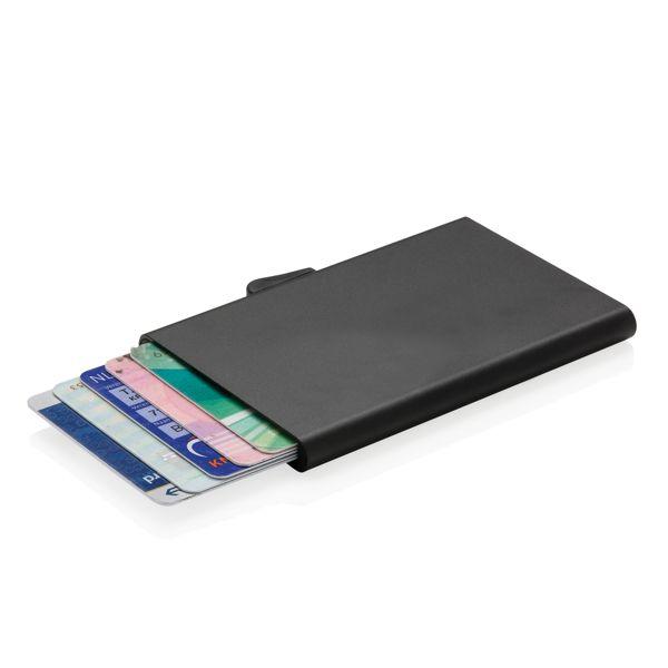 Porte-cartes en aluminium anti RFID C-Secure, Objet personnalisable, comité social économique