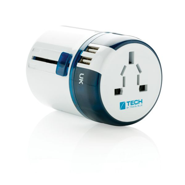 Travel Blue matka-adapteri USB-portilla