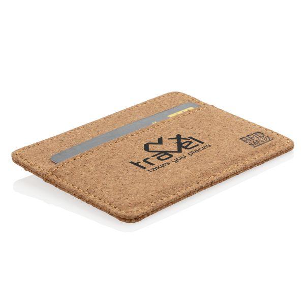 Kapea RFID-suojattu lompakko korkista