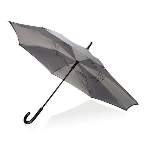"""Parapluie manuel réversible de 23"""", Objet personnalisable, comité social économique"""