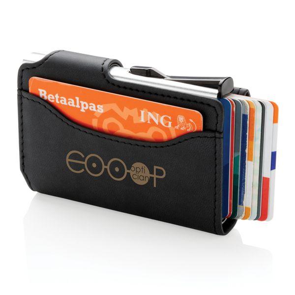 Alumiininen RFID-korttitasku ja PU-lompakko