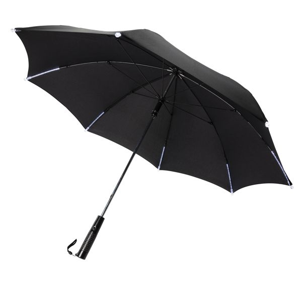 """Parapluie manuel 23"""" avec LED, Objet personnalisable, comité social économique"""