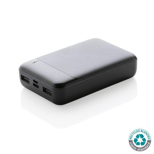 Batterie de secours 10.000 mAh en plastique recyclé RCS, Objet personnalisable, comité social économique