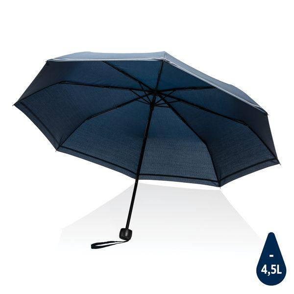 """Mini parapluie 20.5"""" rPET 190T réfléchissant Impact AWARE™, Objet personnalisable, comité social économique"""
