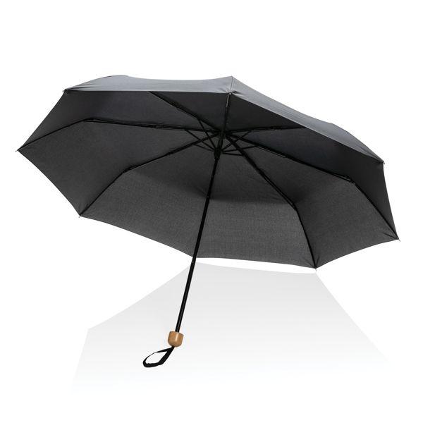 "Mini parapluie 20.5"" rPET 190T poignée bambou Impact AWARE™"