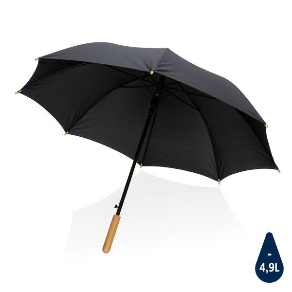 """Parapluie 23"""" en rPET et bambou ouverture auto Impact AWARE™, Objet personnalisable, comité social économique"""