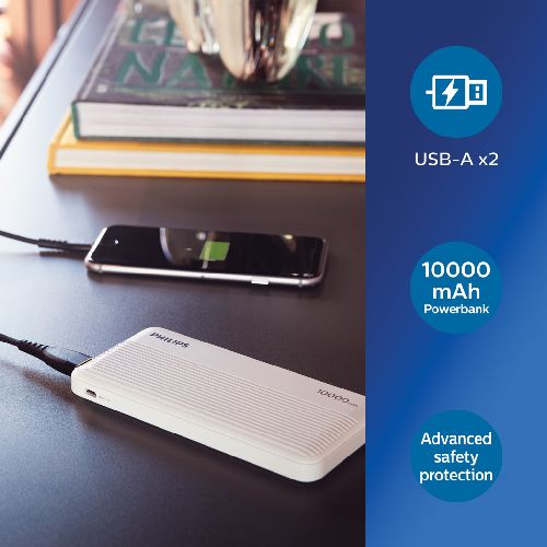Batterie de Secours Philips Ultra Fine 10,000mAh