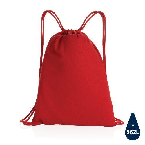 Sac à dos cordelettes en coton recyclé 145 gr Impact AWARE™, Objet personnalisable, comité social économique