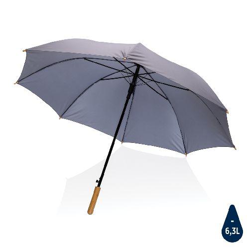 """Parapluie 27"""" en rPET et bambou ouverture auto Impact AWARE™, Objet personnalisable, comité social économique"""