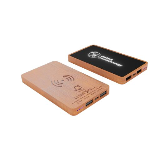 powerbank wireless wood 5000