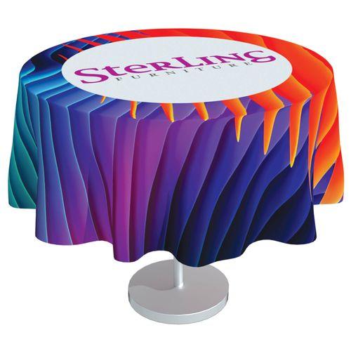 Full Colour, Full Coverage Table Cloth - 300cm Diameter