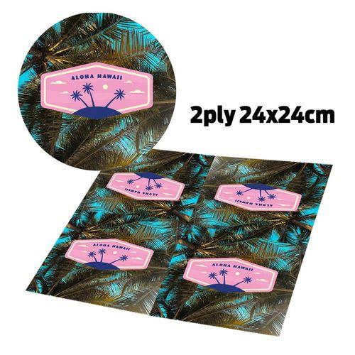 Serviette En Papier 2 Plis (25X25cm)