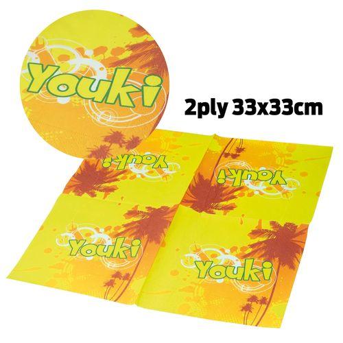 Serviette En Papier 2 Épaisseurs (33X33cm)
