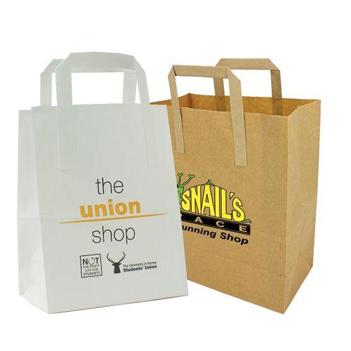 Flat Handle Paper Bag (28 X 20 X 10cm)