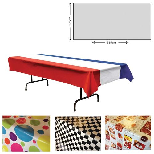Wipeable PVC Tablecloth (280 X 300cm)
