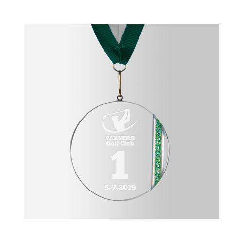 Médaille ronde en verre