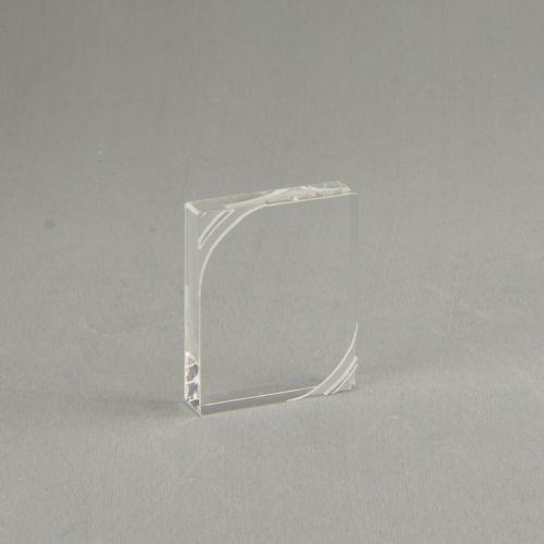 Presse-papiers rectangulaire en plexiglass