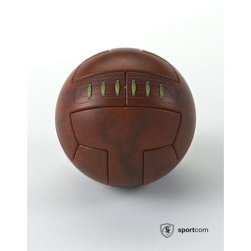 Ballon Football Old School cuir véritable